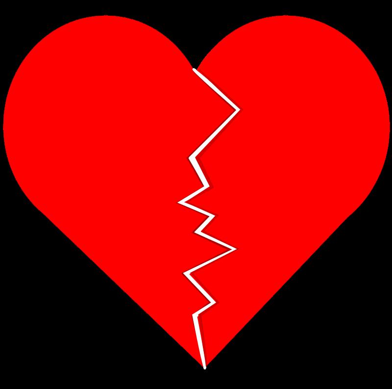 clipart broken heart