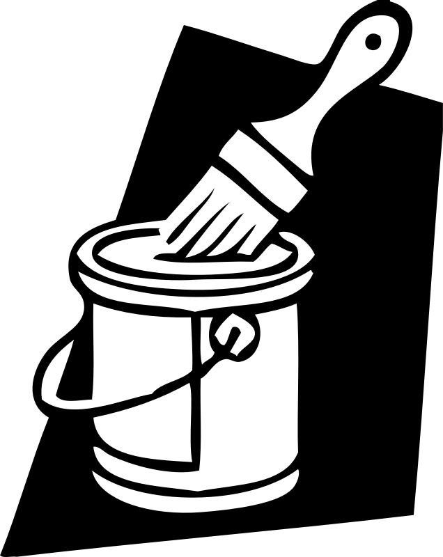 paint can and brush by johnny_automatic - icon of a paint brush in a can of paint