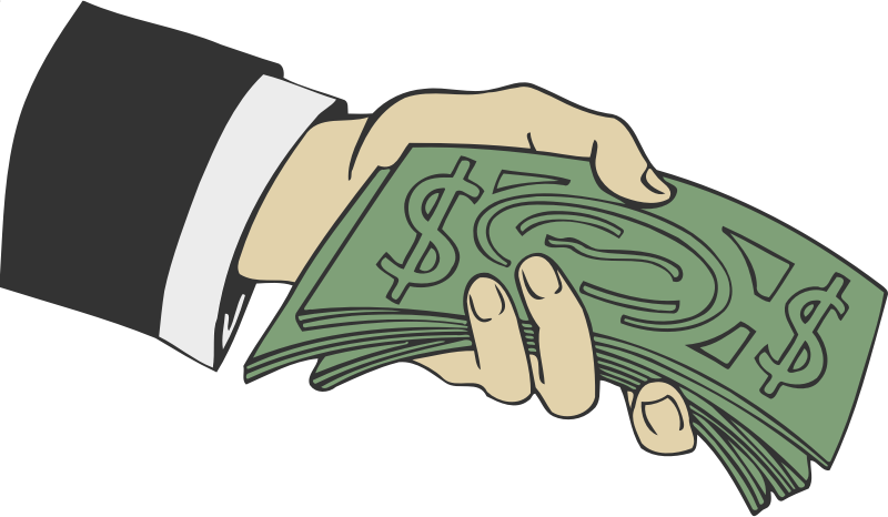 clipart hand offering money Cartoon Money stack of money clipart black and white
