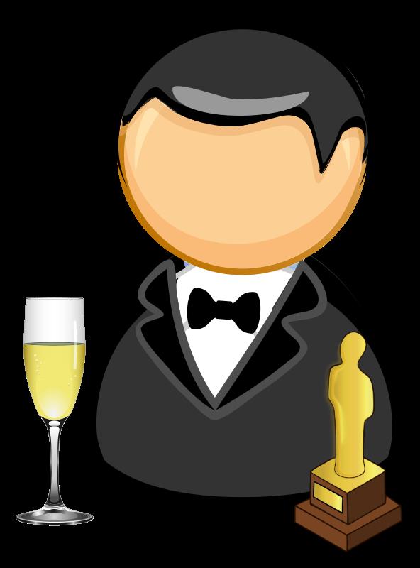 clipart movie star actor