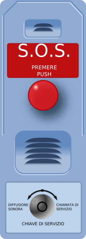 SOS Call Station by mi_brami - Simple SOS calling station with red pushbutton