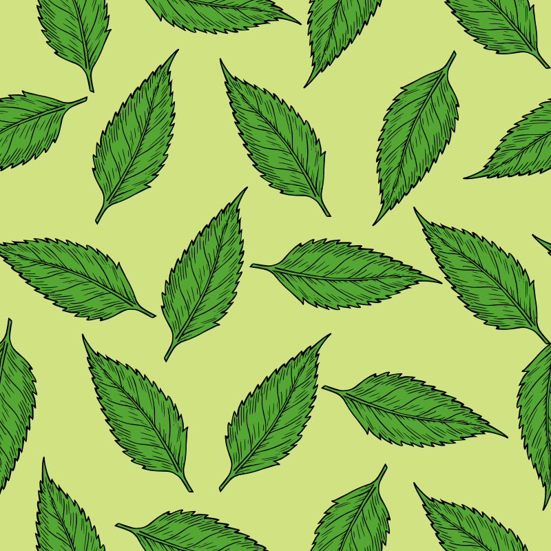 Clipart Summer Leaves Pattern