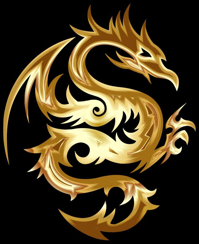 clipart gold tribal dragon 56 monster clipart for kids monster clip art black and white