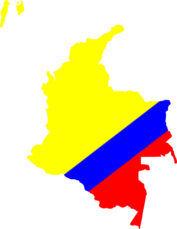 Map of Colombia by egonpin - Mapa de Colombia