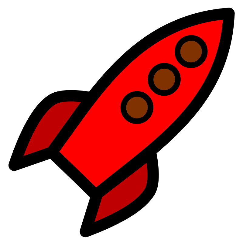 Clipart - Rocket - red