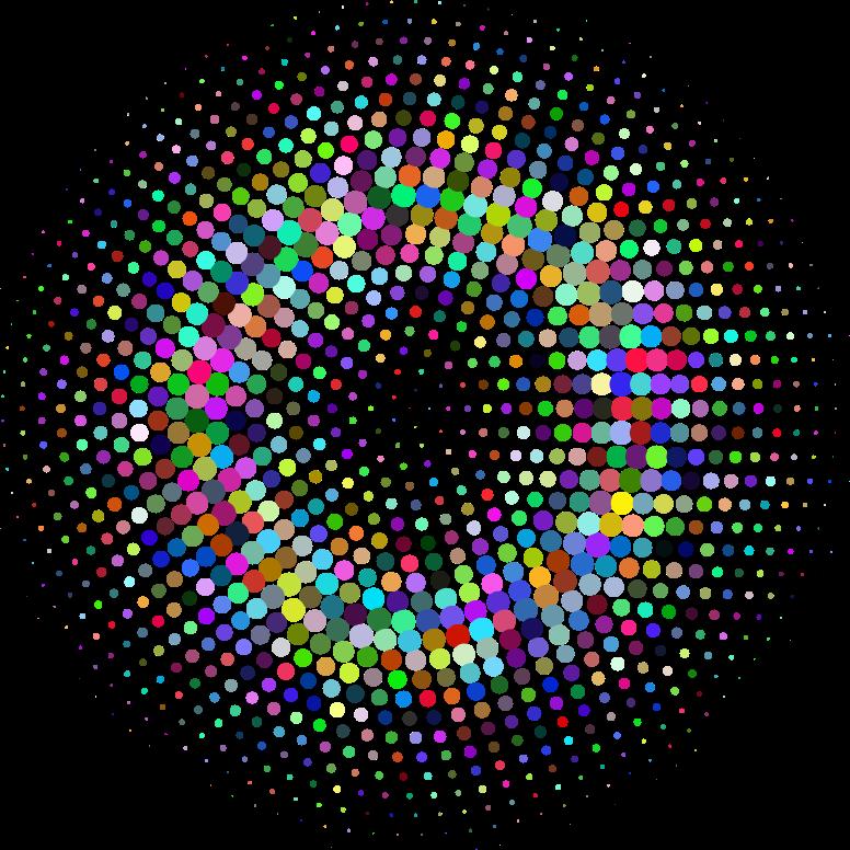 Line Art Vs Halftone : Clipart prismatic halftone circle