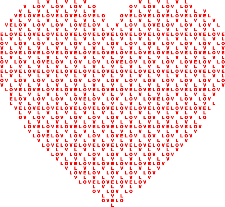 Clipart Heart Love Typography