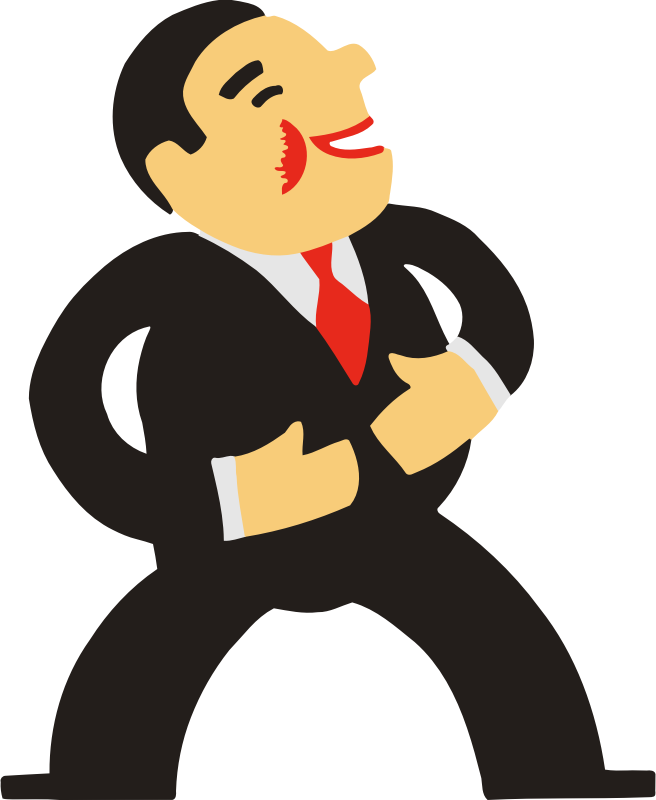 man laughing clipart - photo #16