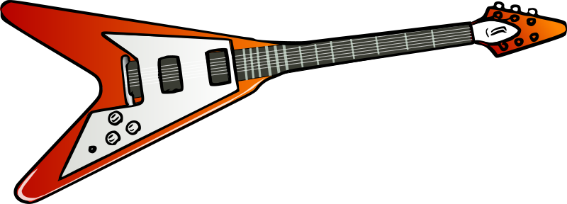 Flying V guitar by TheresaKnott - A red electric guitar