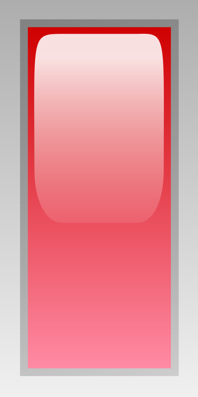 led rectangular v red by jean_victor_balin - Red glossy rectangle by Jean-Victor Balin. From OCAL 0.18 release.