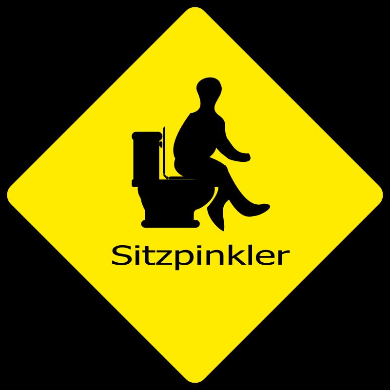 Clipart Sitzpinkler