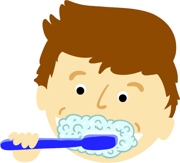 Clipart - Boy Brushing Teeth