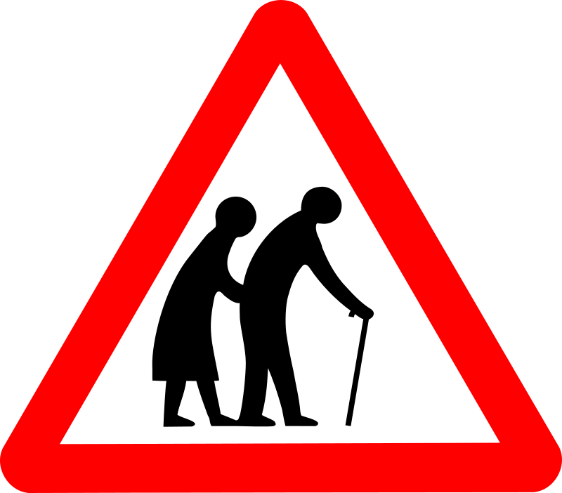 Roadsign old folks by Simarilius - Roadsign with a silhouette of elderly couple by John Cliff. From OCAL 0.18 release.