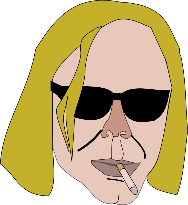 smoking man by themanwithoutsex - an older blond man with sunglasses and cigarette