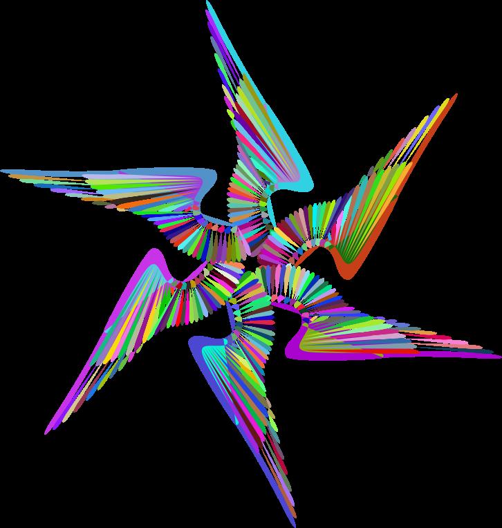 Line Design Art Png : Clipart wings design line art prismatic