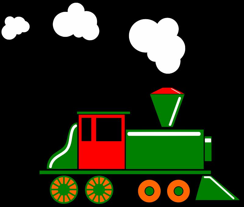 Train Clip Art : Clipart steam train colour