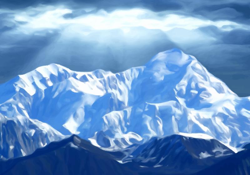 Clipart  Mountain Scene 4