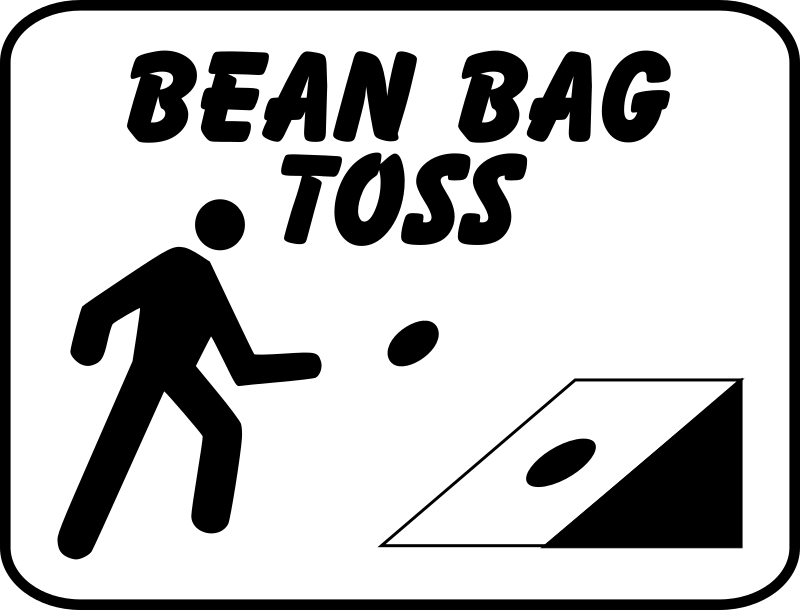 Clipart - bean bag toss sign