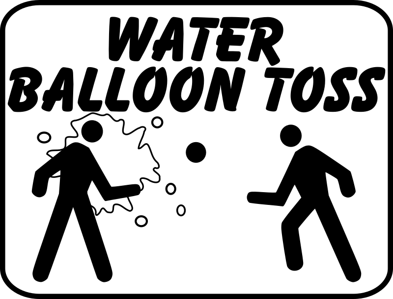 clipart water balloon toss sign picnic clip art pictures picnic clip art images free