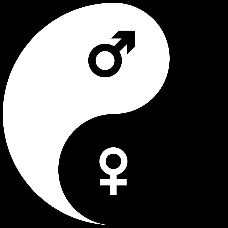 Yin and yang nude women