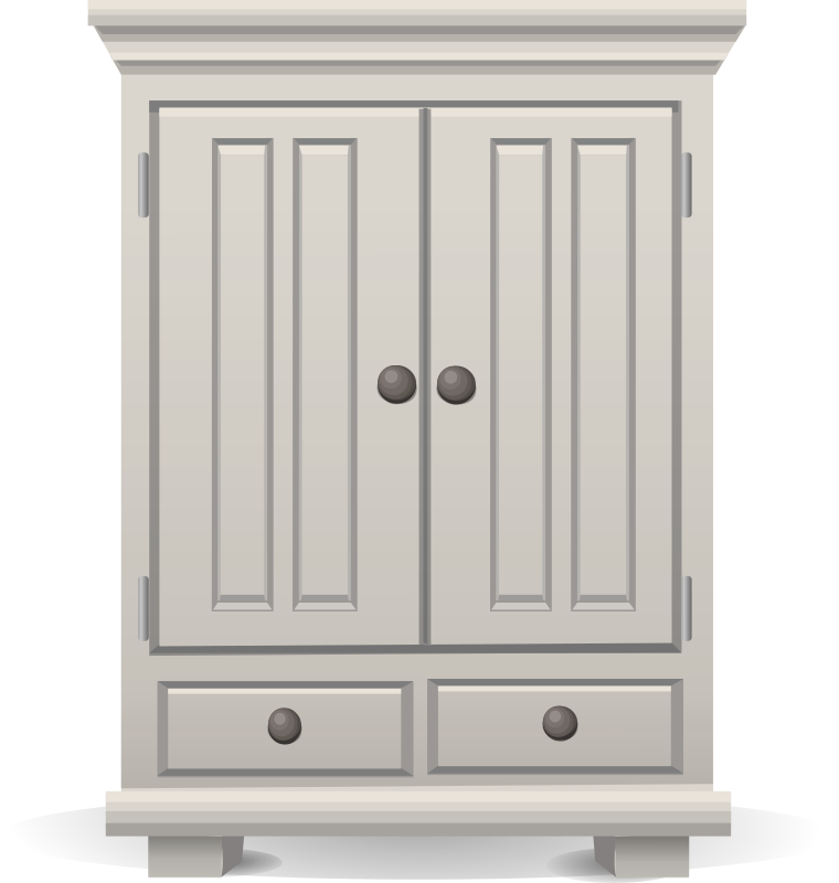 Clipart Tall White Cabinet From Glitch