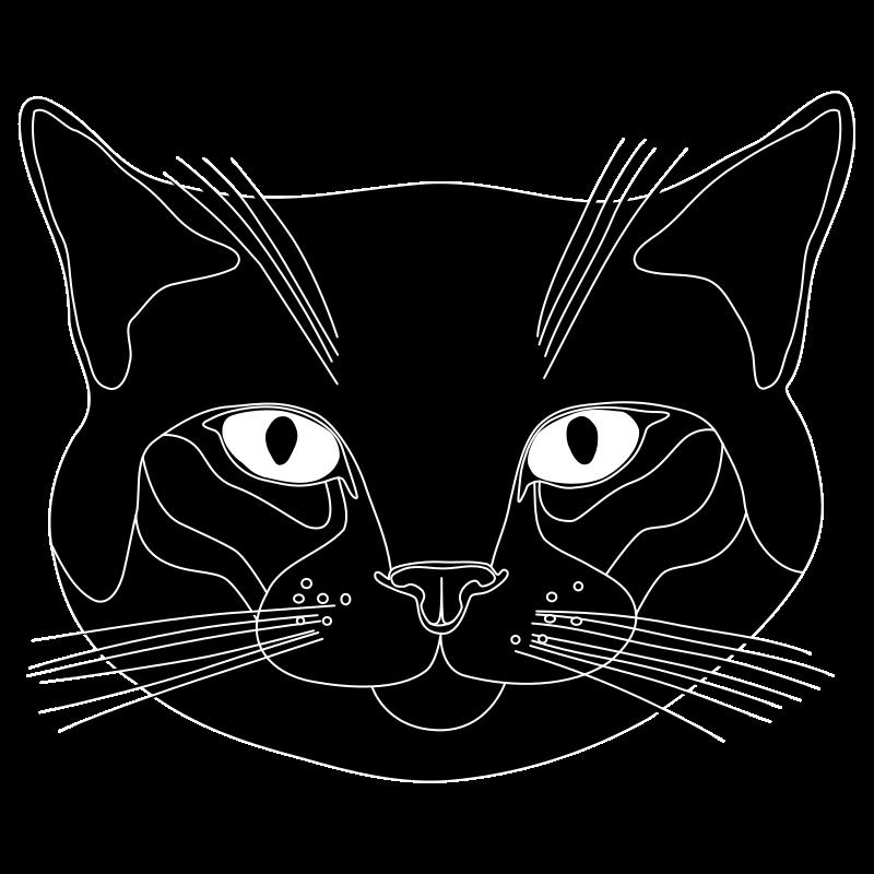 Clipart  Tête de chat noir