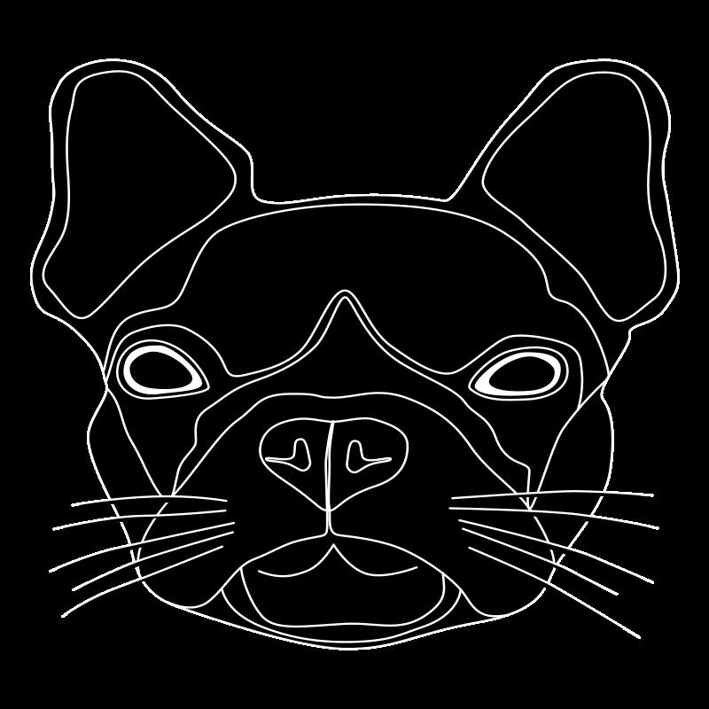 Clipart - Tête de chien noir 2