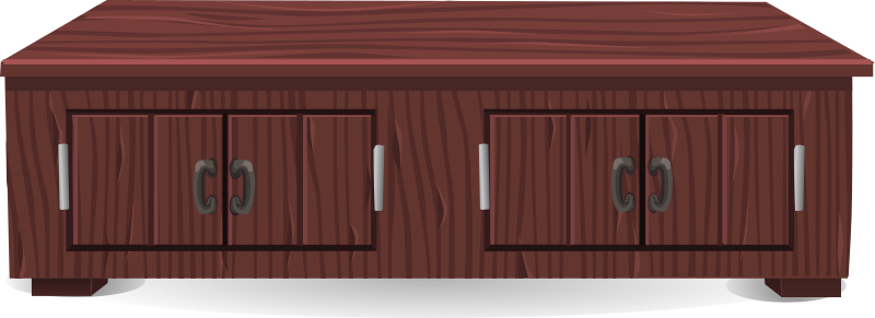 Clipart Short Mahogany Cabinet From Glitch