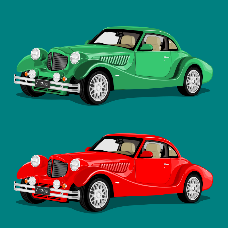Old Classic Car Clipart