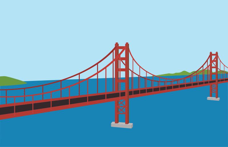 Clipart - Golden Gate Bridge
