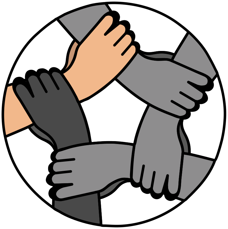 United hands clipart