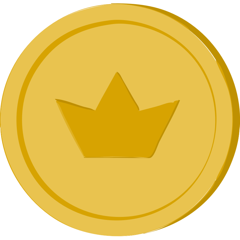 clipart gold coin