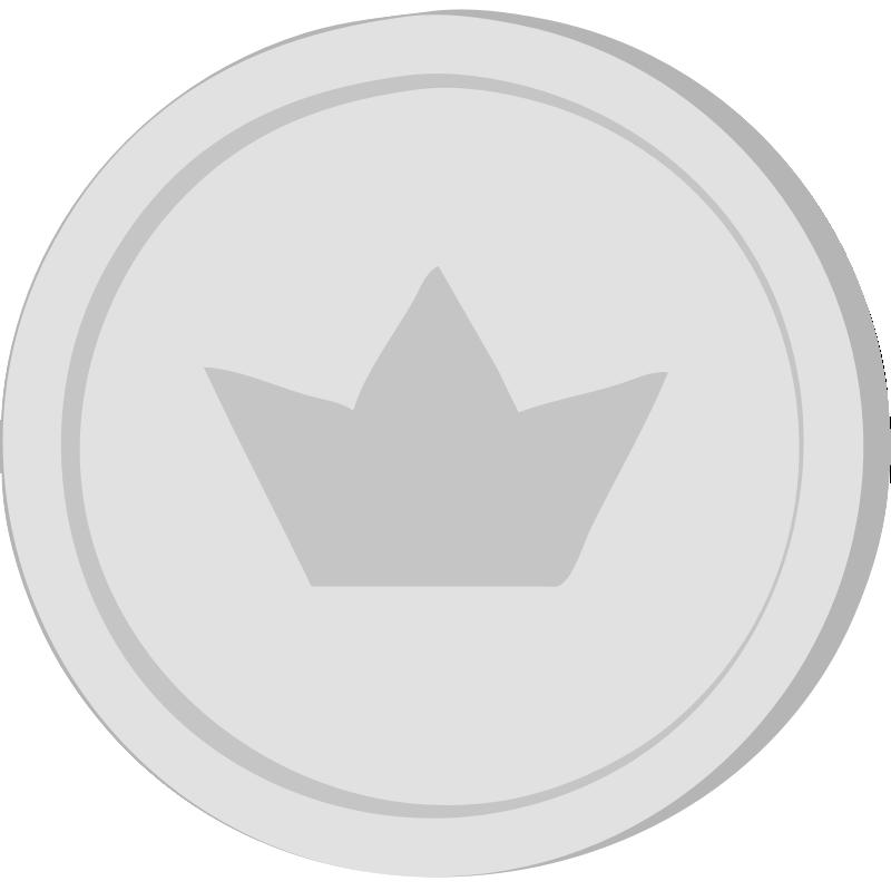 clipart silver coin