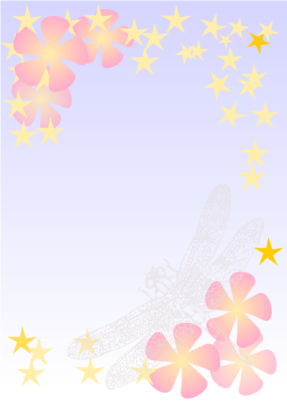 Clipart Dragonfly Notepaper