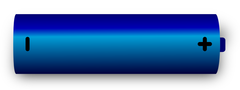 Battery 1 by J_Alves - A simple blue battery, done in Inkscape.