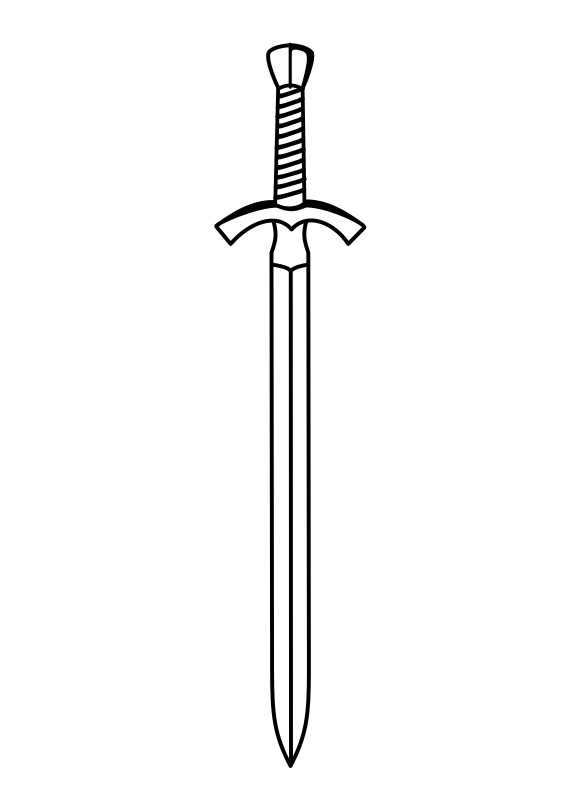 two-edged sword by D4v1d - Black and White two-edged sword