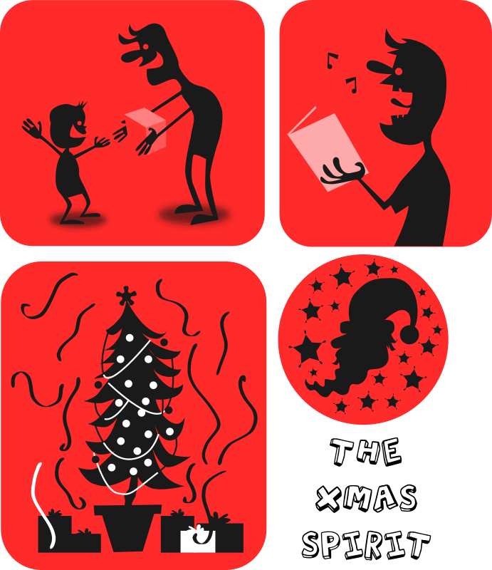 xmas spirit by kablam - Created by pencilsauce.com using Inkscape from Inkscape.org.