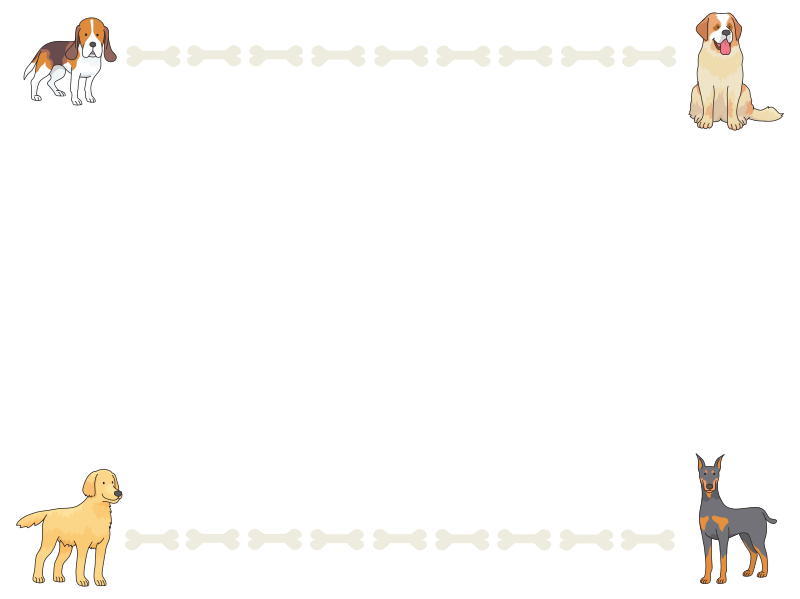 Clipart - Dogs and bones frame