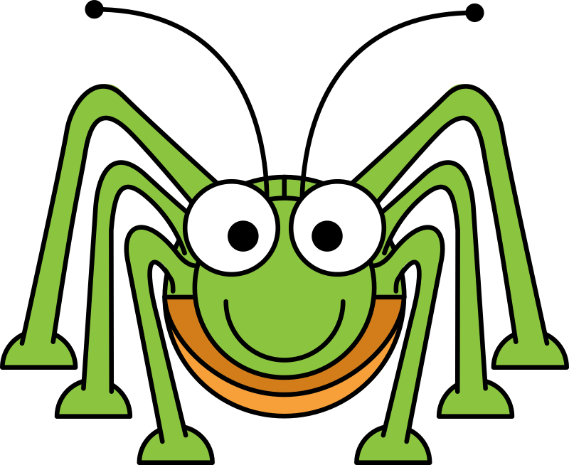 Cartoon Grasshopper by StudioFibonacci - Cartoon Grasshopper in the style of Lemmling.