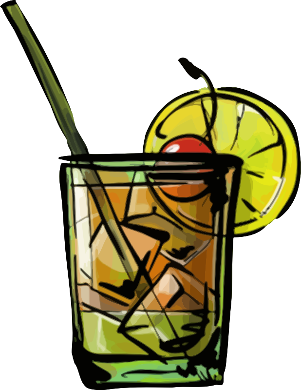 clipart whiskey sour cocktail
