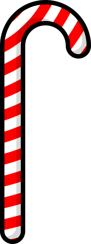 Candy cane by purzen - A cartoonish candy cane