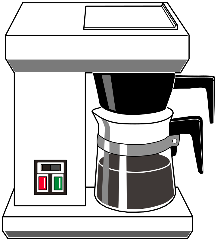 Clip Art Coffee Maker ~ Clipart drip coffee maker