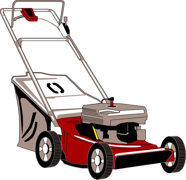 Clipart Lawnmower With Bagger