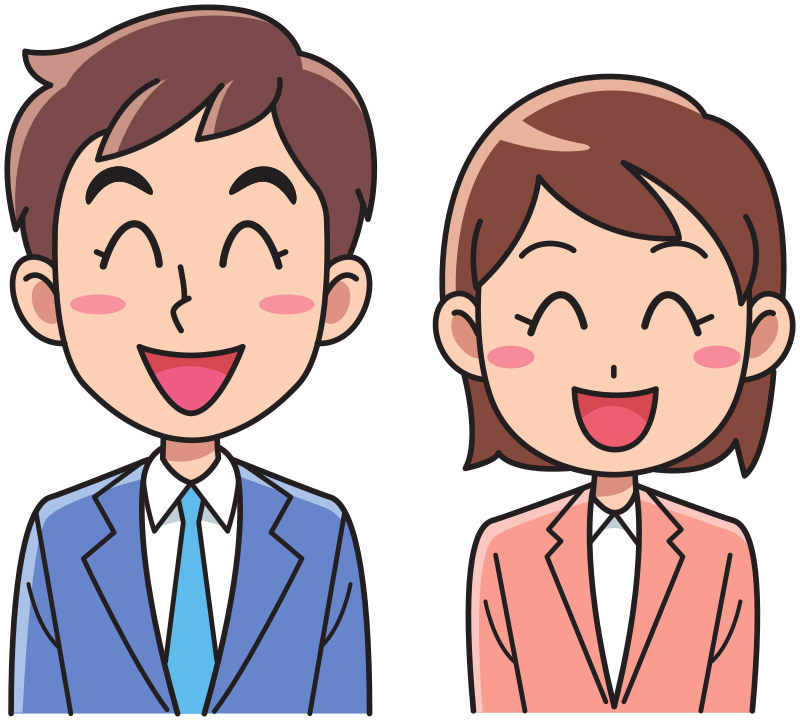 Clipart Business Man And Woman Laughing