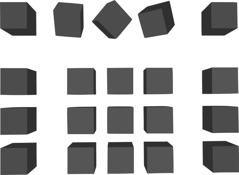 Simple Grey Cubes by dogface_jim - a bunch of cubes from blender that I then traced and cleaned up in inkscape, might save someone some time at some point.