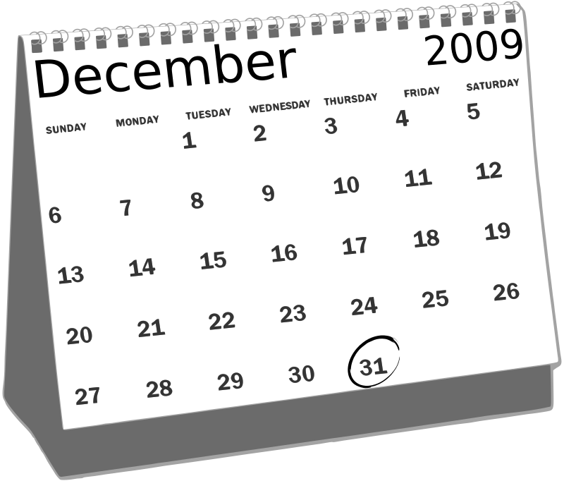 Desk Calendar by roystonlodge