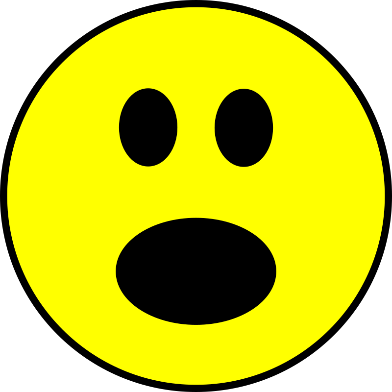 Clipart - Surprised Smiley