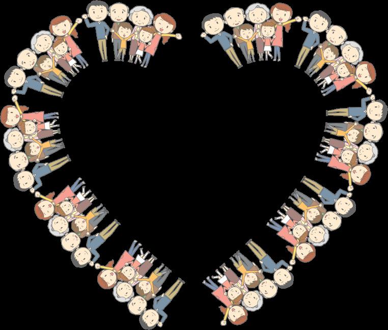 clipart multigenerational family heart frame