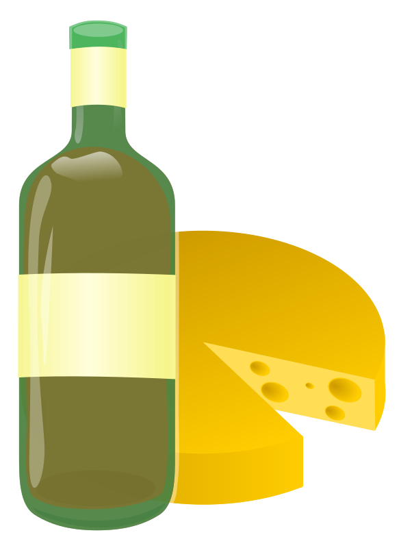 wine and cheese by ryanlerch - a simple combination of 2 cliparts that already exist in the library that i put together for a clipart request