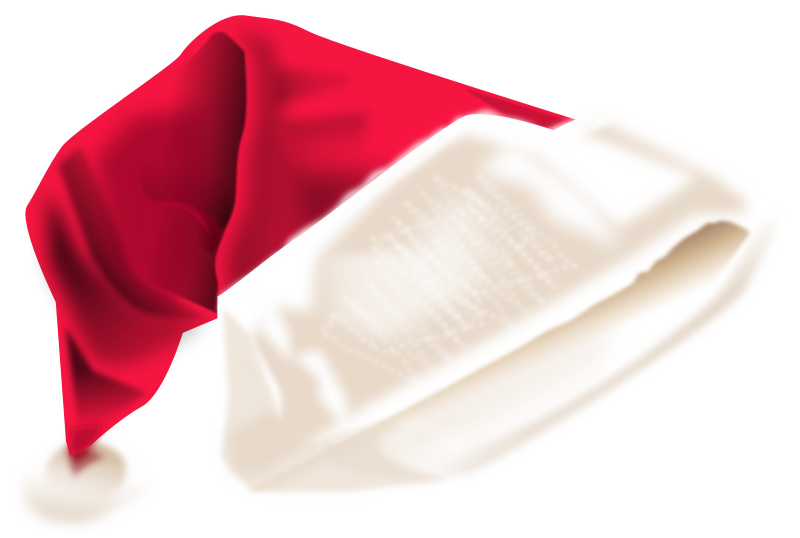 Santa's Cap by prapanj - I created this in Inkscape trying to copy from a real image of Santa's hat. I Have used jitter nodes option for the fur, it didn't come out well. And it gets real slow when I play with jitter nodes. Hope you enjoy this.